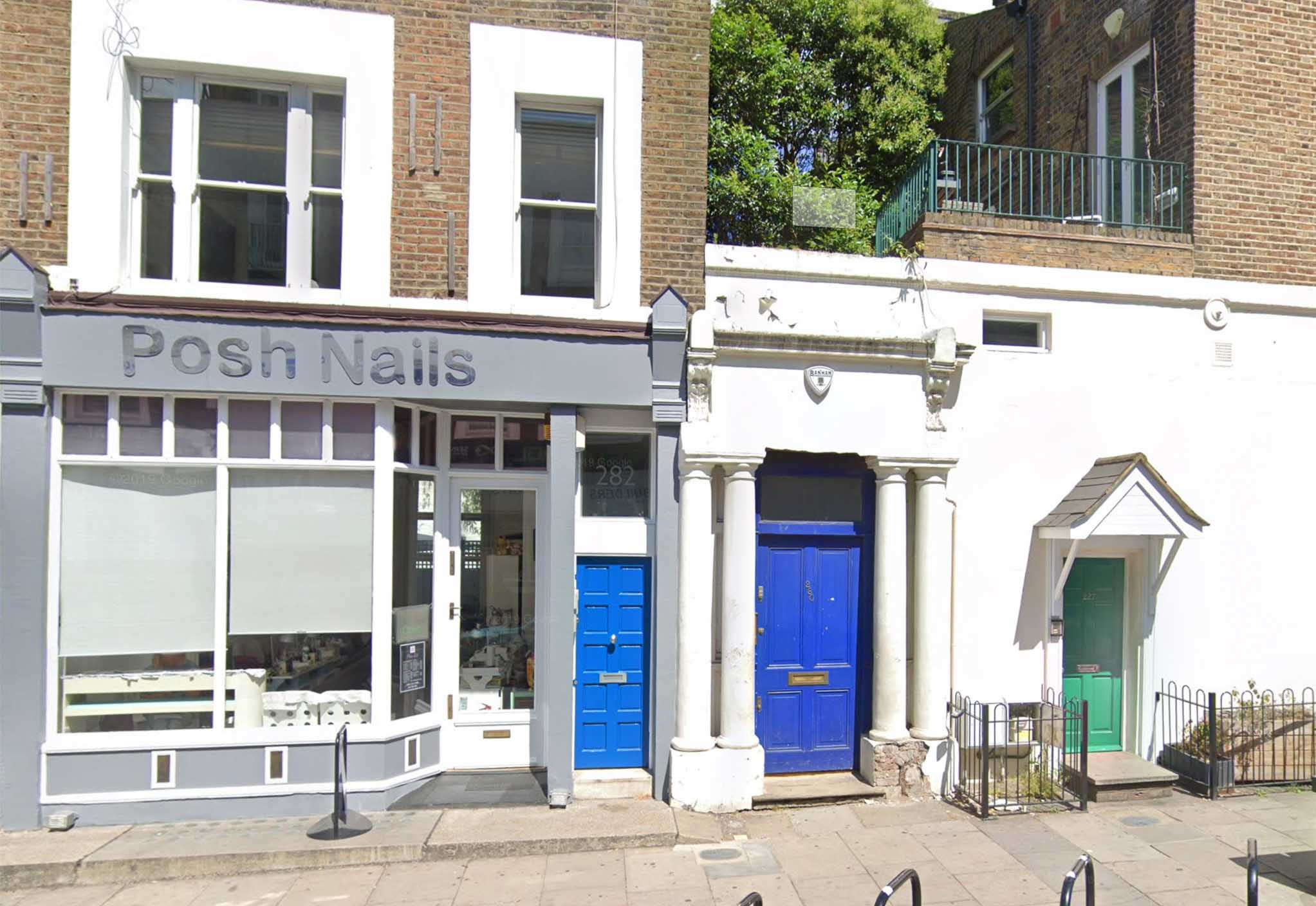 The blue door from Notting Hill Movie 280 Westbourne Park Road